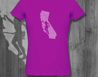 Rock Climbing California 2 T-Shirt Mountain Climbing Tshirt Bouldering T shirt Rock Climbing Gift Christmas gift climbers Cyber Monday