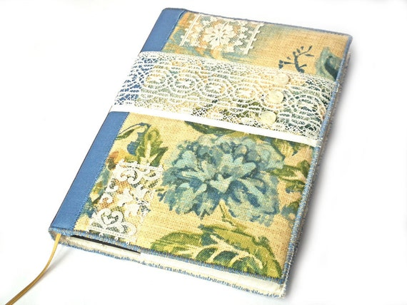 Sketchbook Cover Collage : Notebook sketchbook journal diary cover a fabric collage