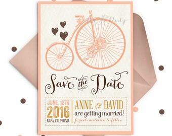 Retro Save the Date Invitation, Rustic Save the Date, Save the Date Card, Save the Dates, Vintage Save the Date, Custom Save the Date
