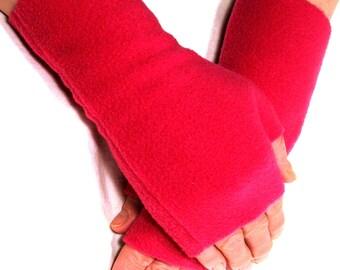 Fleece Fingerless Gloves