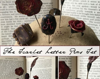 Notions: Scarlet Letter Decorative Pins Set by The Primitive Hare