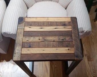 Reclaimed Wood and Metal - Jondy Laptop Table