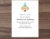 Custom Digital Dog Birthday Invitation, Children's Birthday Invite, Baby Birthday Invite, Puppy Birthday Invite, Dog Birthday Invitation