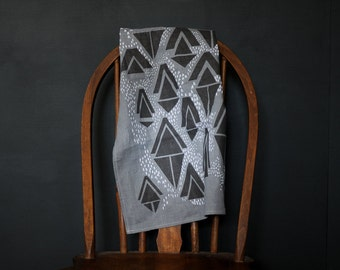 Linen Tea Towel - Dish Towel - Kitchen Hand Towel - Modern Minimalist Kitchen Decor - Geometric Tea Towel - Housewarming Gift - 100% Linen