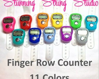 Finger Row Counter - 11 Color Options