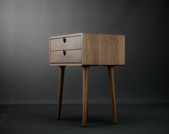 Retro side table etsy for Tables de nuit ikea