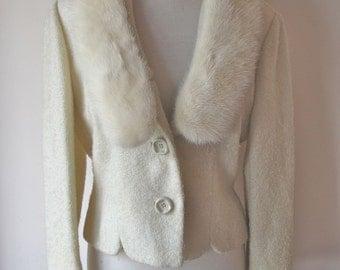 1960s Blazer w/ Mink Collar