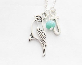 Chickadee Necklace Silver Robin Necklace Chickadee Charm Necklace Bird Necklace Bird Lover Jewelry Bird Watcher Necklace Mother's Day Gift