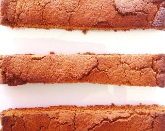 Organic Cinnamon Biscotti / Gluten Free / Vegan / Low Carb / Paleo Friendly / Wheat Free