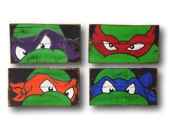 Teenage Mutant Ninja Turtles Wall Art / Turtle Room Decor / Boys Room Decor