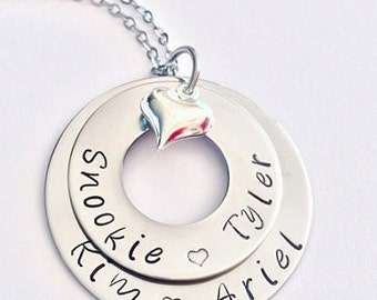 Personalized necklace, hand stamped jewelry- perfect for mothers Day