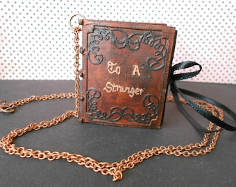 """Book necklace """"To a stranger"""" by Walt Whitman"""