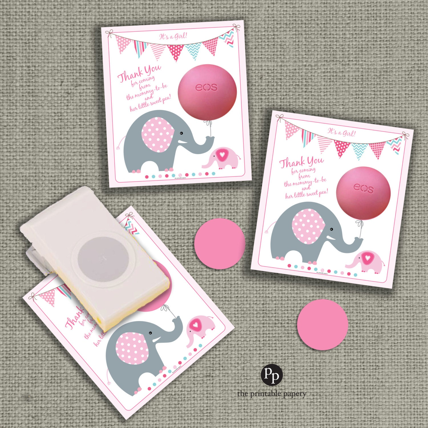 Baby Shower Gift Tags for EOS lip balm ts INSTANT DOWNLOAD