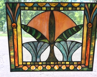 Egyptian Motif Stained Glass Panel (SG1)