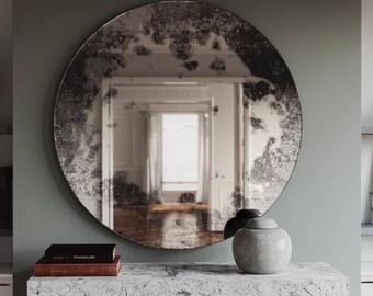 Antiqued Wall Mirror Antiqued Glass Mirror Custom Antiqued