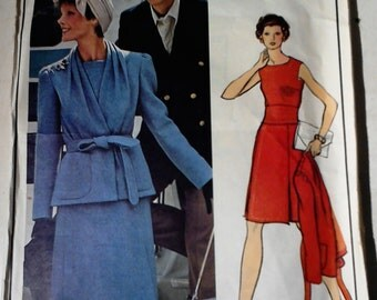Vintage Pierre Cardin VOGUE Paris Original Sewing Pattern 2984 Size 14 Dress +