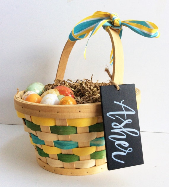 Easter basket name tag personalized easter basket name tag kids easter basket name tag personalized easter basket name tag kids easter basket chalkboard negle Image collections