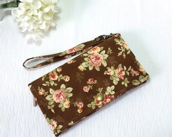 Phone Wristlet / iPhone Pouch With Detachable Wristlet / Smart Phone Wristlet/ Pouch / Clutch / Wristlet