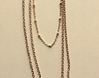 Layered Tassel and Pink Agate Slice Gold Chain Necklace