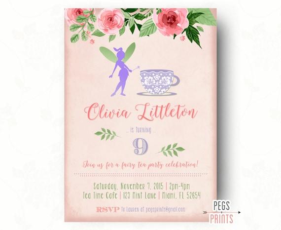 Fairy Tea Party Invitation Fairy Garden Invite Fairy – Garden Tea Party Invitations