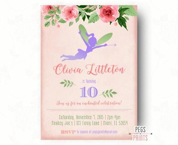 Fairy Birthday Invitation // Whimsical Fairy Garden ...