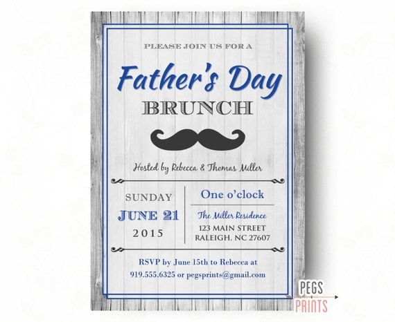Items similar to Fathers Day Invitation // Printable ...