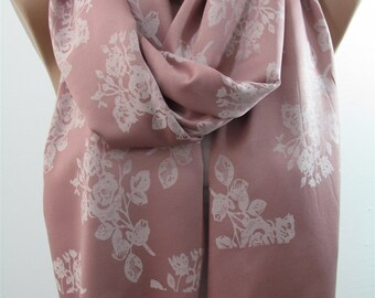 Floral Scarf Shawl Women Cowl Scarf Infinity Scarf Circle Scarf Loop Fall Winter Women Fashion Accessories Holiday Christmas Gifts For Her