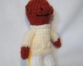 admiral akbar star wars inspired crochet character