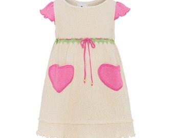 SALE- Organic Cotton Heartpocket Dress was 59AUD