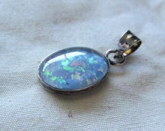 Sterling Silver Opal Triplet Pendant