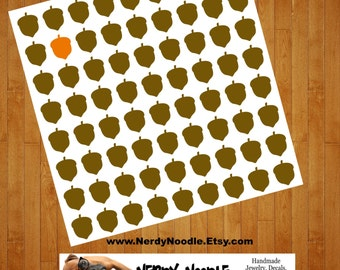 Acorn Planner Stickers, 80, Acorn Stickers, Acorns Sticker Set, Acorn Envelope Seals, Acorn Envelope Stickers, Acorn Decals