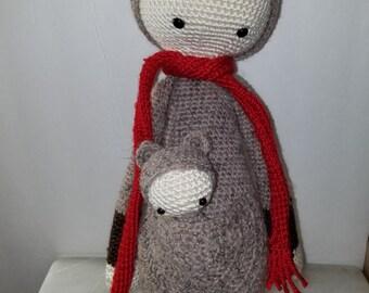 Kira The Kangaroo and Baby created from Lalylala pattern