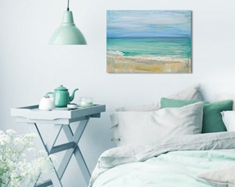 "Ocean Painting Art Oil Original // ""Retreat"" 18 x 24"" on Canvas"
