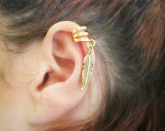 Tribal leaf ear cuff wrap boho jewelry gift for her ear cuff earring