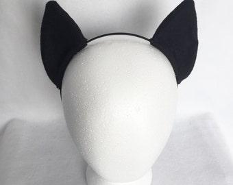 Black My Little Pony Ears, Black Costume Ears, Black Cosplay Ears Headband, Nightmare moon ears, luna ears, my little pony ears