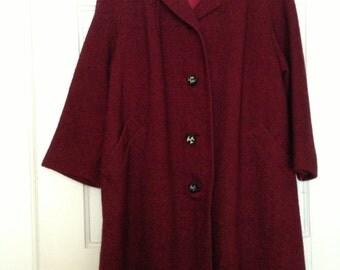 Swing Coat, 50s/60s red and black tweed vintage