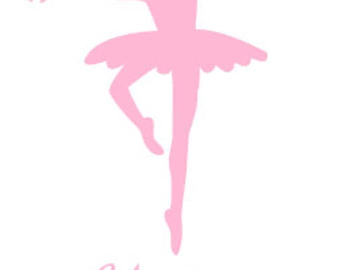 """FREE SHIPPING //  2.5x5"""" Ballerina Vinyl Decal  - Car Decal - Laptop Decal - Great For Water bottles, School Supplies, Lunch boxes!"""