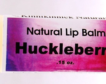 Huckleberry Lip Balm from Montana. All Natural Lip Care. A Spa Treatment for Your Lips!