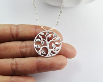 Personalized Family tree Jewelry, Initial tree necklace, mother bracelet,tree of life Jewelry,  personalized gift.grandmother ,aunt gift.