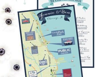 Custom Map Design Winter Park Map Wedding Map Destination