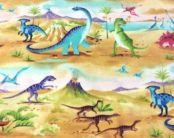 Half Metre Patchwork Quilting Fabric Clothworks Dinosauria Y0913-8