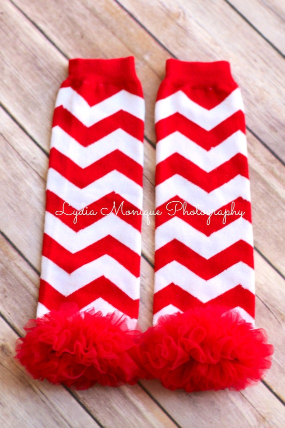 Christmas leg warmers red and white chevron leg warmers baby girl