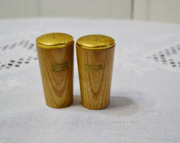 Vintage Wooden Salt Pepper Shaker Set Mid Century Modern Design PanchosPorch
