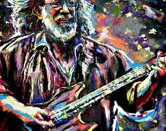 Jerry Garcia Art, Grateful Dead Original Painting Art Print
