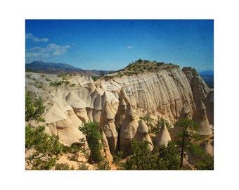 Landscape photography, southwest art, New Mexico photography, southwestern decor, Tent Rocks geological art western landscape art print