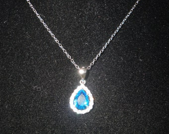 Blue Ice Diamond-Aura Silver Pendant*****.