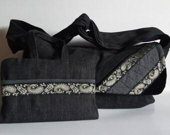 Big Gray Denim Bag