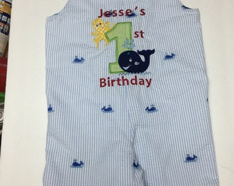 Baby Boy's first birthday outfit - FISH  First Birthday Outfit for Boys - First Birthday Boy Outfit