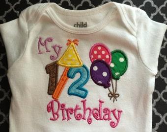 "It's my 1/2 Birthday Onesie/Shirt ""Girlie"""