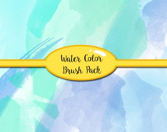 Water Color Brush - ABR File - Summer Brushes - Photoshop Brushes - Brushes Photoshop - Photoshop- Brush Pack